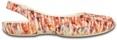 Womens Olivia II Striped Floral Flat