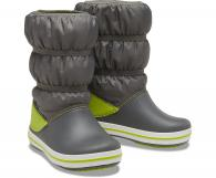Kids Crocband™ Winter Boot Slate Grey / Lime Punch